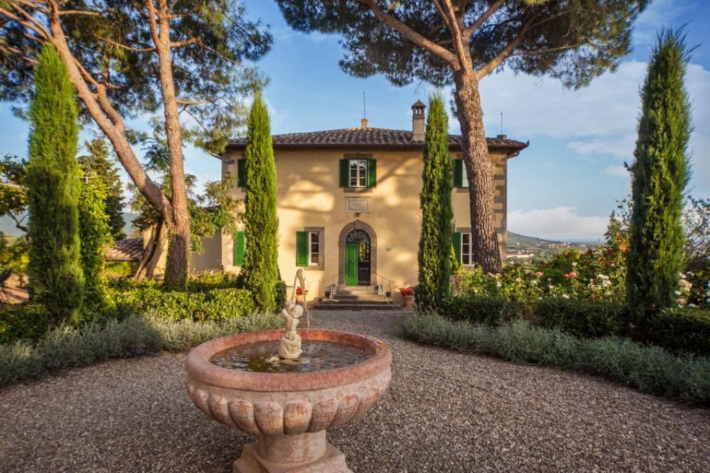 Villa Laura in Cortana, Italy as seen in Under the Tuscan Sun