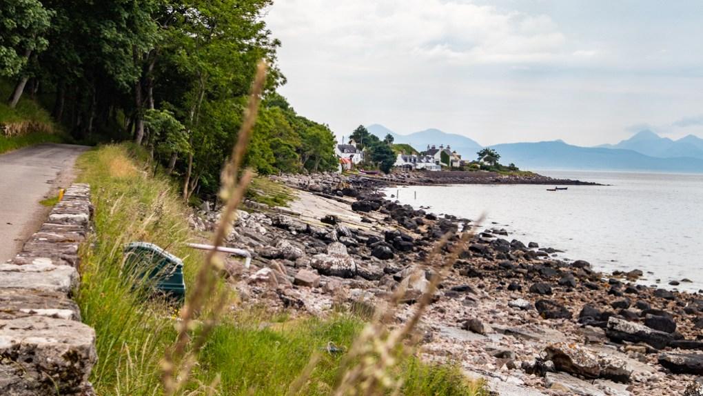 Applecross coastline in Scotland