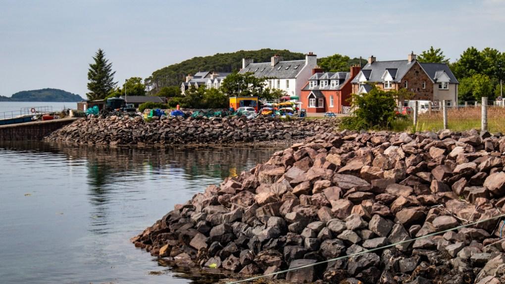Shieldaig coastline in Scotland