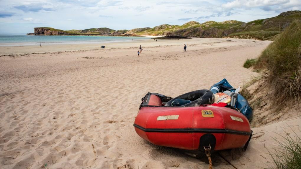 Oldshoremore Beach in Scotland