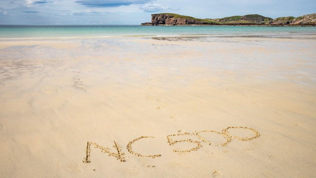 Oldshoremore Beach on the North Coast 500 in Scotland