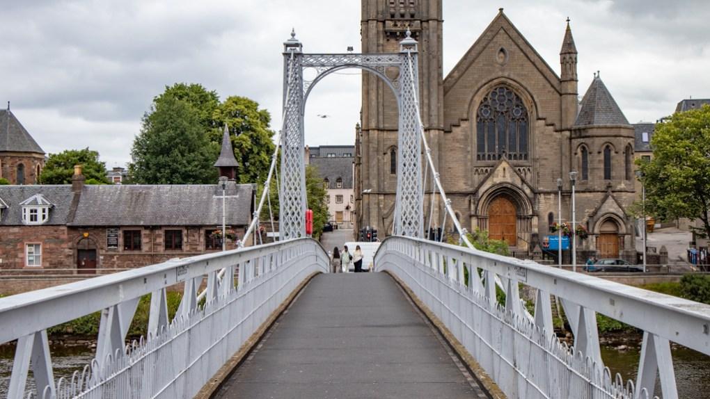 Grieg Street Bridge in Inverness, Scotland
