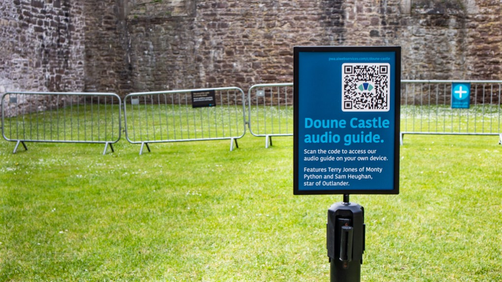 Audio Guide information at Doune Castle in Doune, Scotland