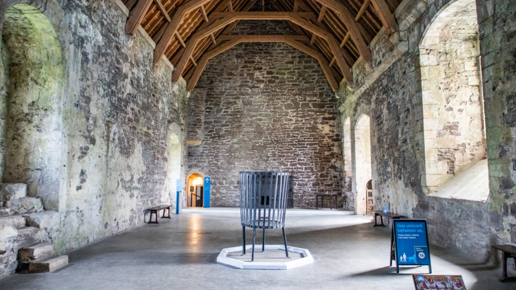 Great Hall at Doune Castle in Scotland