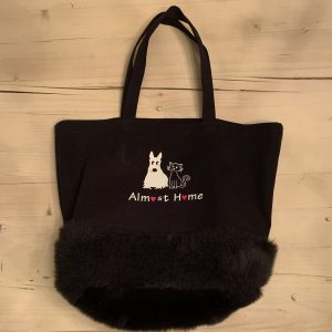 Tote Bag with Faux Fur