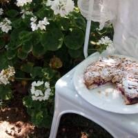 Raspberry Almond Cake with Brandy. Easy Frangipane
