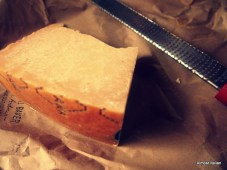 Good Italian Parmigiana and my favourite tool, the microplane.