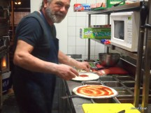 Friendly proprietor and chef, Cafe Bellino, Brunswick.