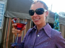 Leanne with a Vodka and Cranberry concoction