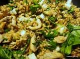 wild mushroom, porcini, barley hot salad