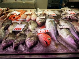 Fresh fish at the Brunswick Market. Knowing the source. Ready to chat and clean to order.