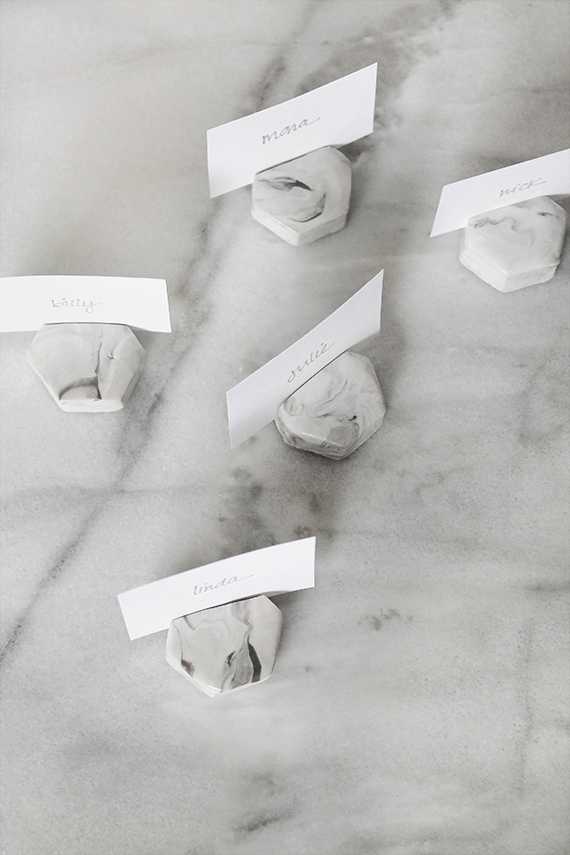 Diy Faux Marble Place Card Holders Almost Makes Perfect