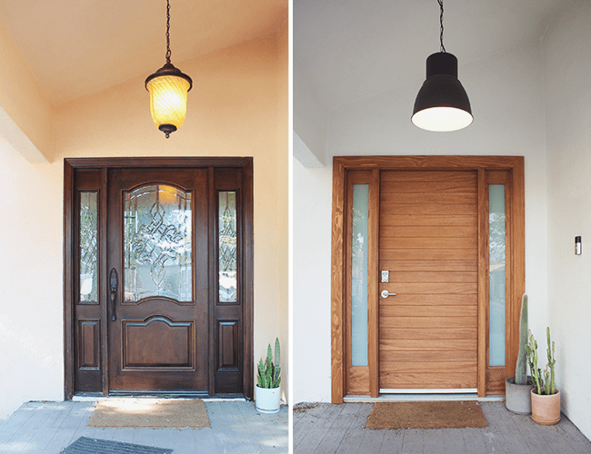 front door before and after | almost makes perfect