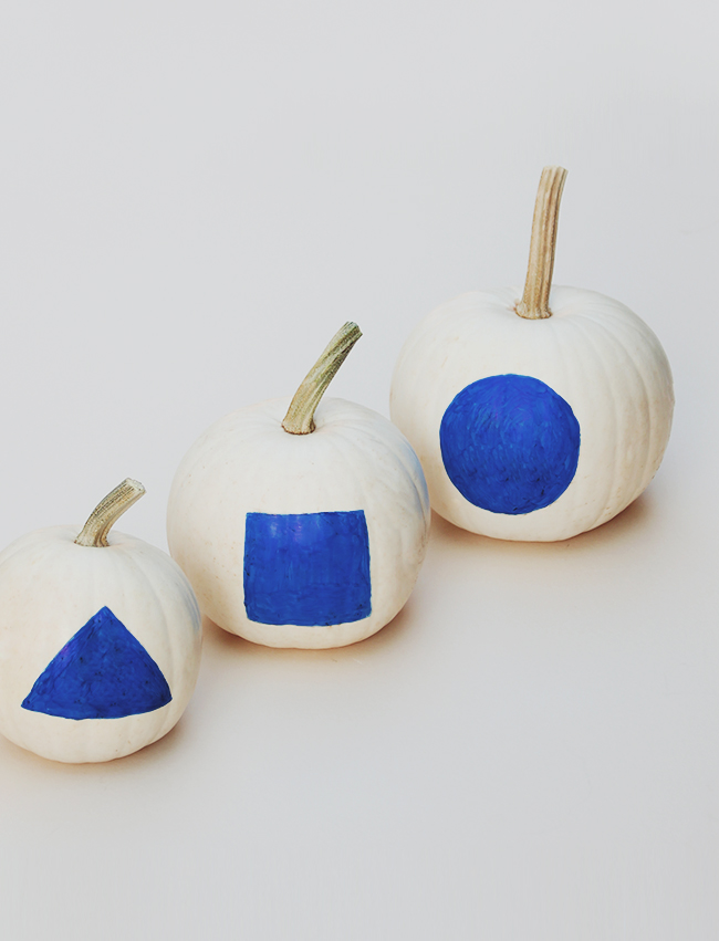DIY minimal shape pumpkins | almost makes perfect