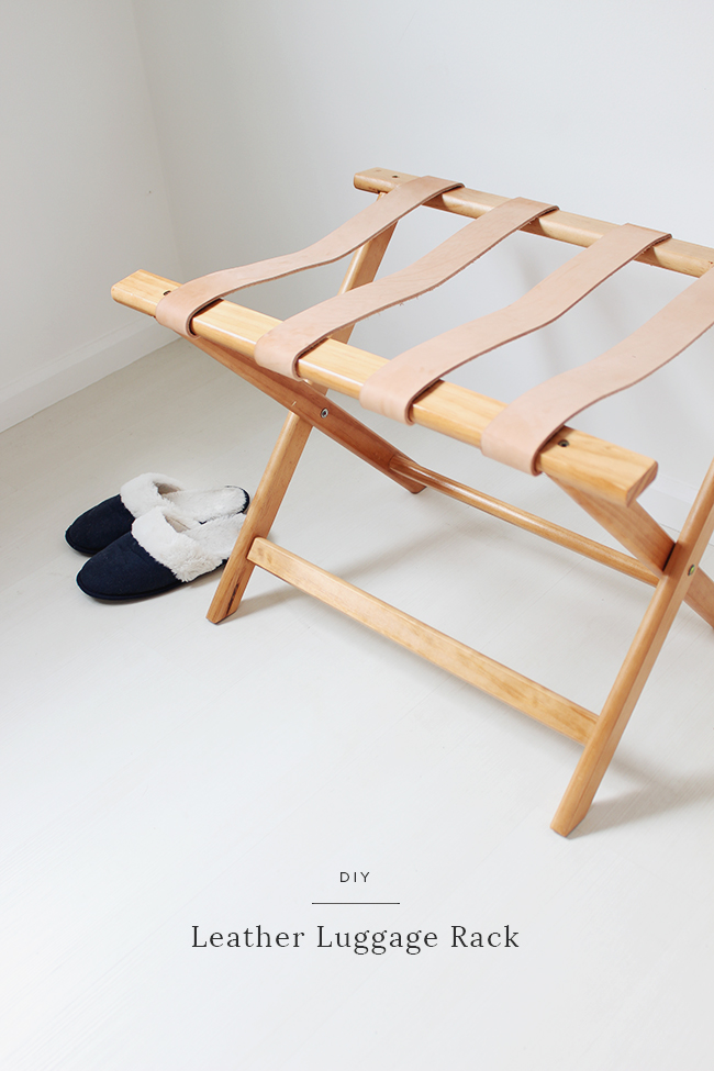 diy leather luggage rack almost makes