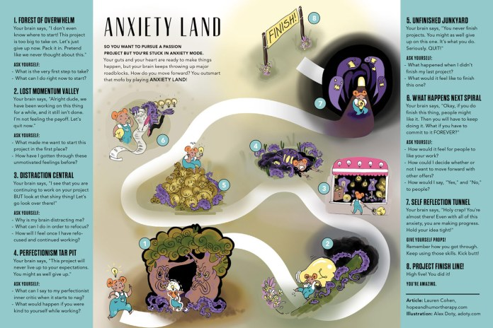 Anxiety Land by Lauren Cohen, Illustrated by Alex Doty