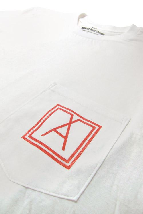 Almost Real Things ART Club Pocket Tee Shirt in White, Pocket Symbol Detail