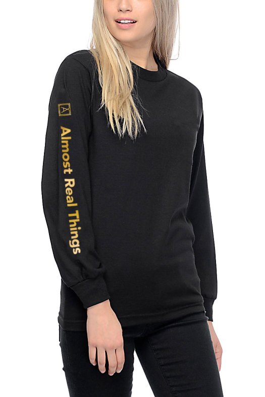 Almost Real Things ART Club Money Makin' Long Sleeve in Black - Front & Sleeve