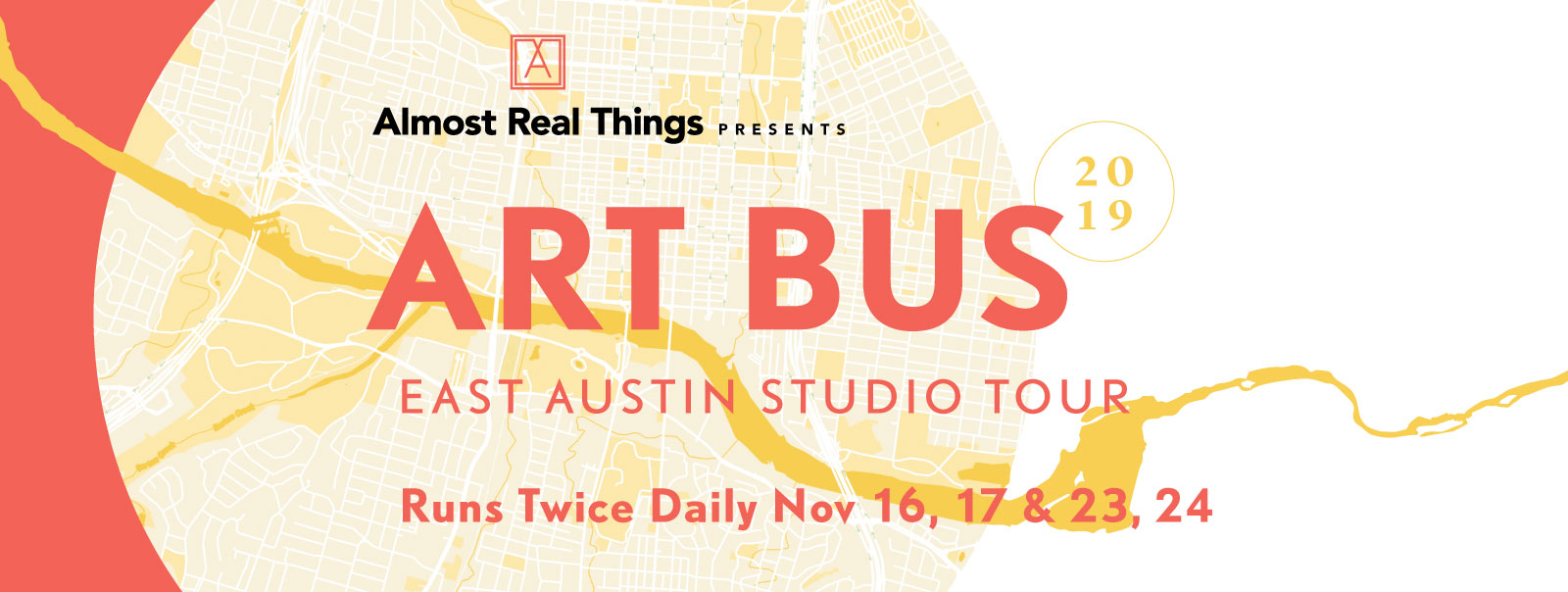 ART BUS Tour for EAST 2019 East Austin Studio Tour in Austin, Texas: November 16, 17 & 23, 24