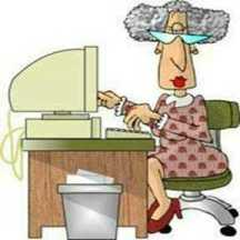 old woman computer - Blogging Between Hot Flashes