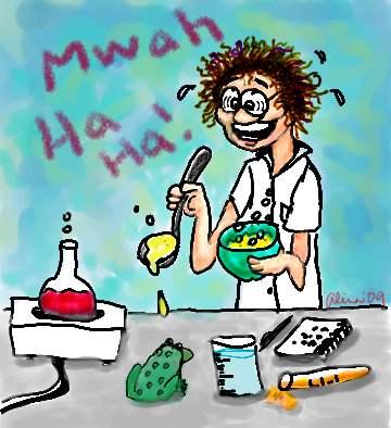 Hard at work in my secret laboratory!