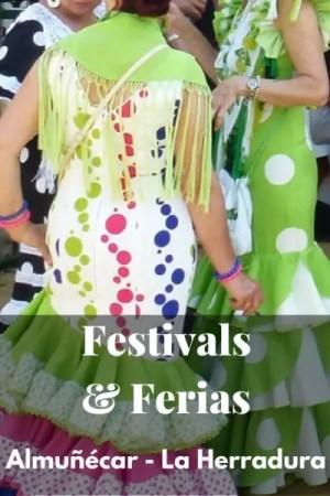 Festivals of Almuñécar & La Herradura, plus annual calendar. A calendar with the dates for La Herradura and Almuñécar holidays (local & national), ferias, fiestas and additional public school days off. Read more on AlmunecarInfo.com