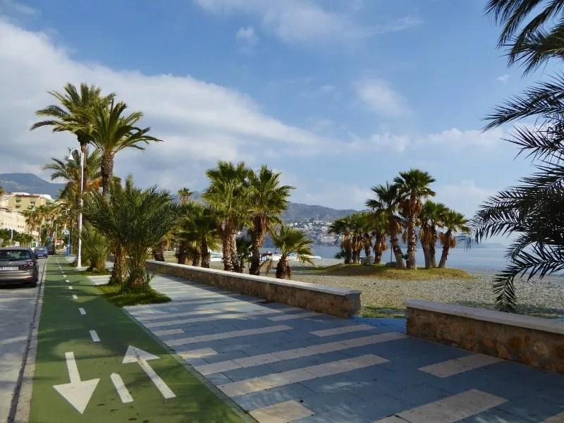 Velilla Beach (Playa de Velilla) cycling route Almunecar Velilla Beach