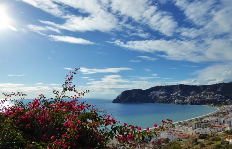 La Herradura Spain and cozy village tucked away in a horseshoe shaped cove.