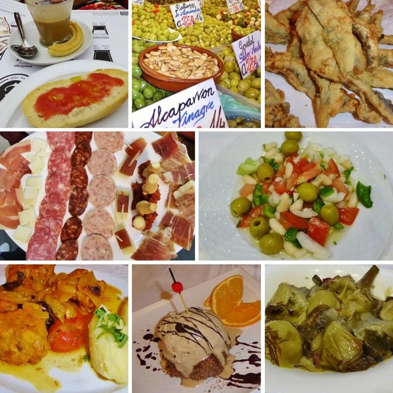 Tasty treats on our Devour Malaga Food Tour