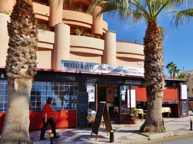 Almunecar Restaurant Ana Maria along San Cristobal Beach