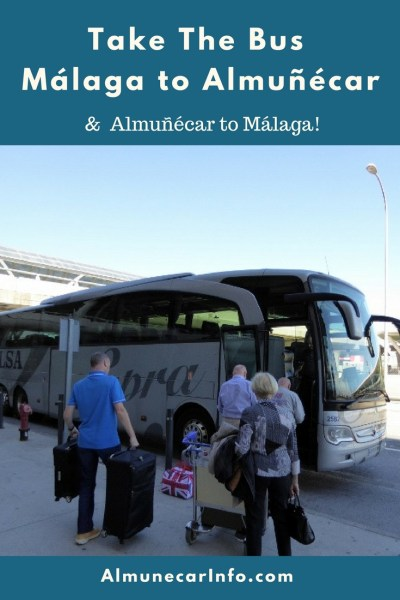 How to take the Malaga airport bus (Alsa bus) from Malaga to Almuñécar & La Herradura, and from Almuñécar to the Malaga airport. It is easy to do! Where to buy tickets, how long does it take and more. Read more on Almunecarinfo.com