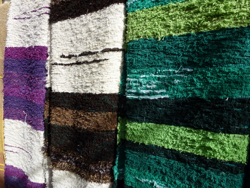 Handmade rugs in Pampaneira. the white villages in Las Alpujarras. We do recommend a day trip to the Village of Pampaneira