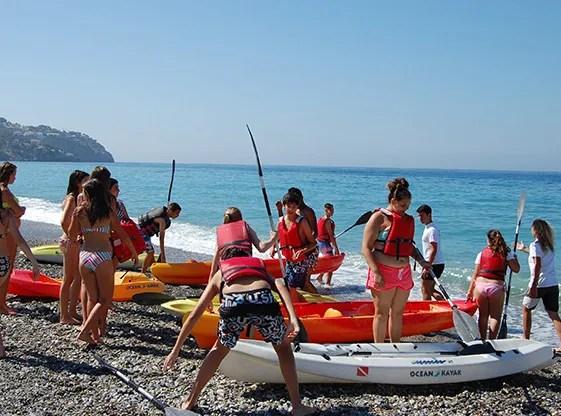 Activ8You summer camp photo credit - kayaking La Herradura