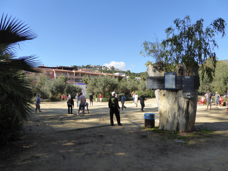 Petanque Pozuelo Park, located at the far end of Velilla Beach. Read more on Almunecarinfo.com