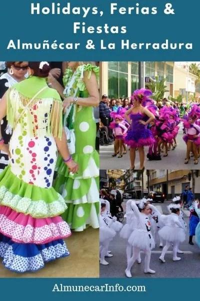 La Herrradura Almuñécar Holidays, Festivals, Ferias. Festivals of Almuñécar & La Herradura, plus annual calendar. A calendar with the dates for La Herradura and Almuñécar holidays (local & national), ferias, fiestas and additional public school days off. Read more on AlmunecarInfo.com