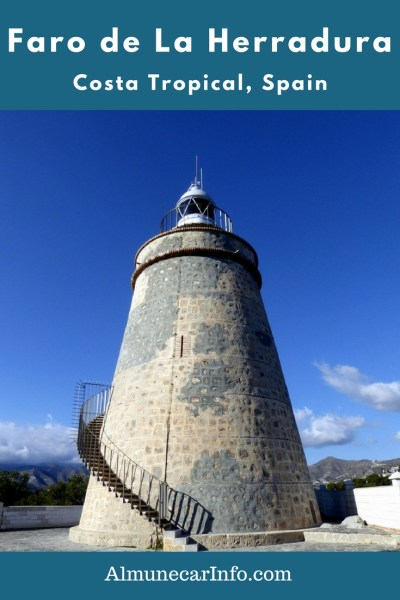 The Punta de la Mona tower (Torre Punta de la Mona) was originally built as a watchtower in the 1700s and was converted to a lighthouse in 1992.  Now the Faro de La Herradura or the La Herradura lighthouse, with must see stunning views of Almuñecar and La Herradura.