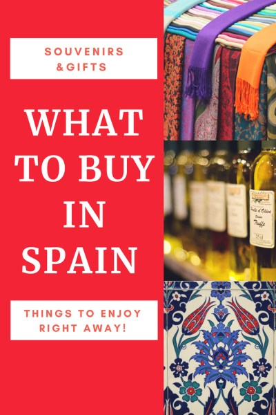 What To Buy In Spain, Souvenirs, Gifts & Things To Enjoy Right Away! If you aren't sure what to buy in Spain, don't worry we have a great list for you.  We cover things to buy in Spain as souvenirs for you to remember your trip.  Things to buy in Spain to give as a gift.  We also share with you the best things to buy in Spain and enjoy while you are there! Read more on WagonersAbroad.com