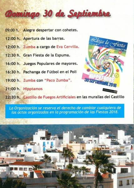 At the end of September we are always in for a treat with the Fiestas de San Miguel, in the barrio del Castillo Almuñécar!  Up high on the hill in old town, near the castle, the streets come alive for 3 days and nights.