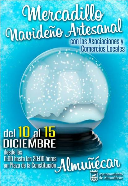 December 10 to 15 - Artisan Christmas Market Plaza de la Constitución (by the Ayuntamiento) 11:00 to 20:00 Artisan Christmas Market (Arts & Crafts Fair)