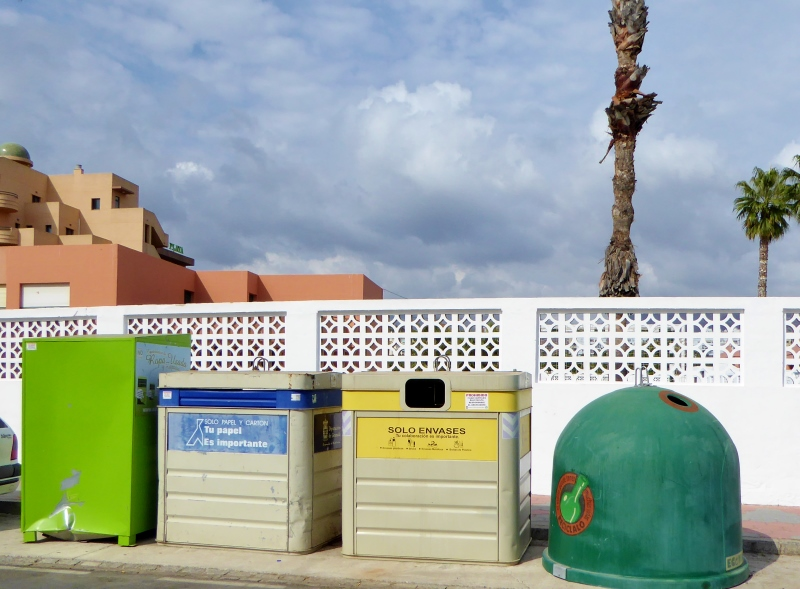 Almunecar Recycle Bins - How to Recycle in Spain