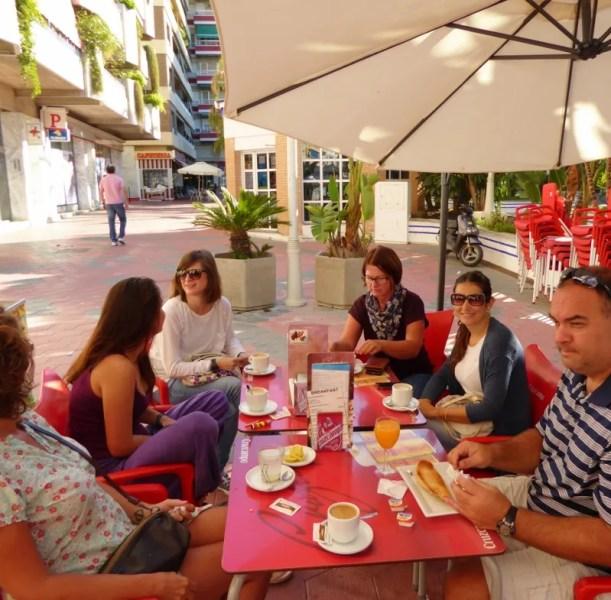 Tropical Coast Languages Coffee Break On the Paseo Spain (Intercambio)