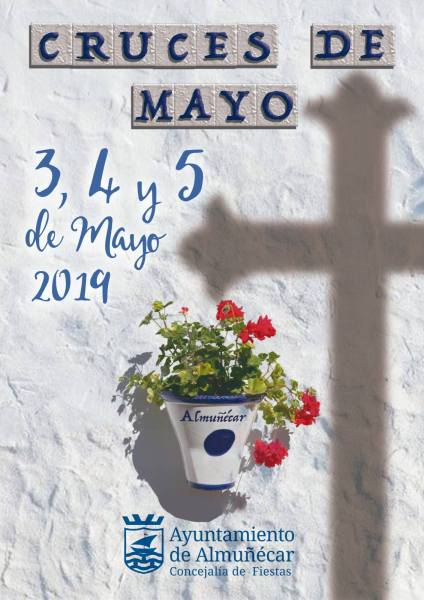 Cruces de Mayo Almunecar & La Herradura - Fiestas in the streets of Almuñécar & La Herradura during the Cruces de Mayo. With elaborate displays of flowers, crosses, lights, decorations, fiestas, and pop-up bars, in the alleys of old town in Almuñécar & La Herradura. Be prepared for a few days and nights with displays, food, drink and a great atmosphere.