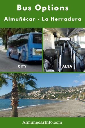 We share with you some Almuñecar & La Herradura bus options.  You actually have a couple of choices for using public transport to travel between the towns. Read more on Almunecarinfo.com