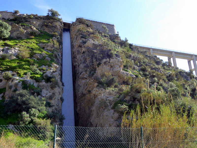 Waterfall form the canal de Motril