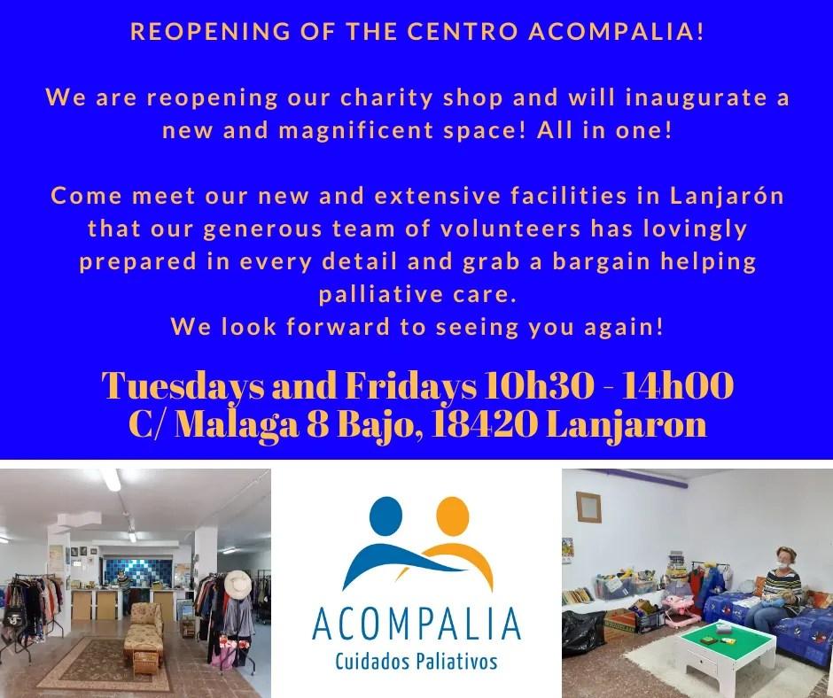 charity shop, volunteer, second hand goods - Lanjarón Centro Acompalia