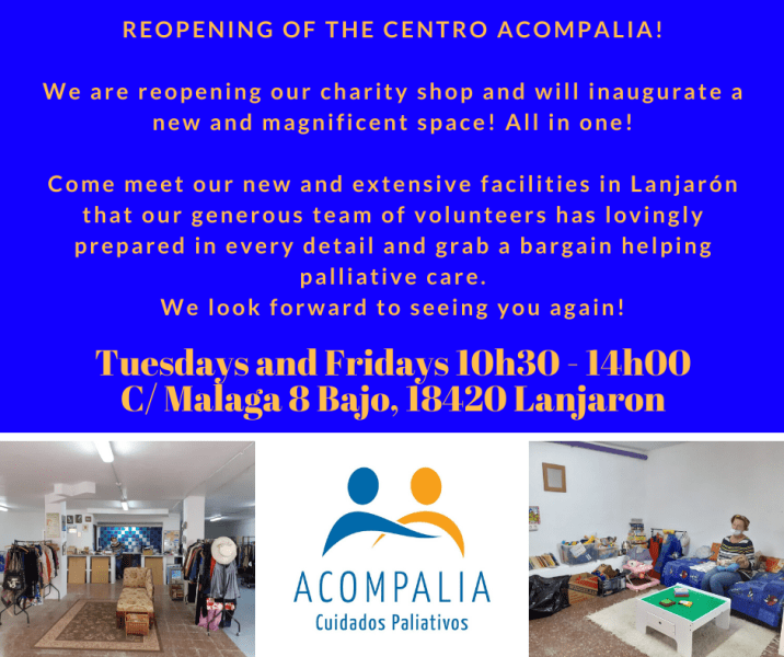 charity shop, volunteer, second hand goods - Lanjarón Centro Acompalia