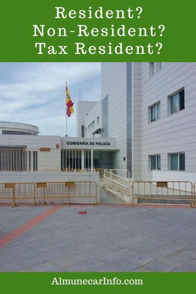 There is so much confusion about residency in Spain. People often don't understand if they are aResident, Tax Resident, or Non- Tax Resident. This is especially true for those citizens within the EU who can travel and reside in the EU countries freely and sometimes for the Non-EU citizens too. Read more on AlmunecarInfo.com