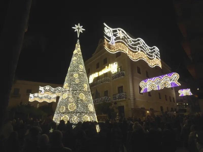 Almunecar Christmas lights at the ayuntamiento