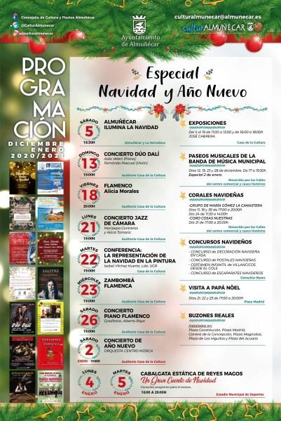 Almunecar cultural program december 2020 and christmas agenda. read more on Almunecarinfo.com