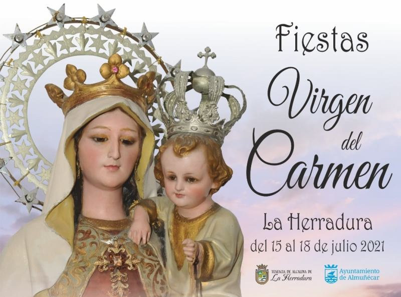 La Herradura Fiestas Virgen del Carmen Schedule 2021  read more on Almunecarinfo.com